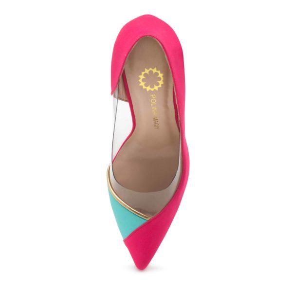 polina magiy розовые туфли сатин