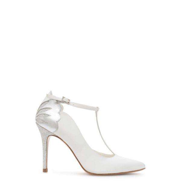 свадебные туфли из шелка с цветком